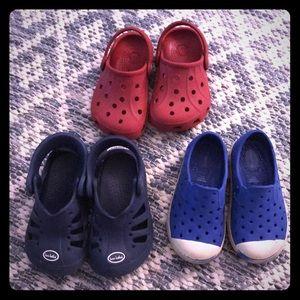 Lot of 3 Croc / Native-like sandals 🌈☀️🌊